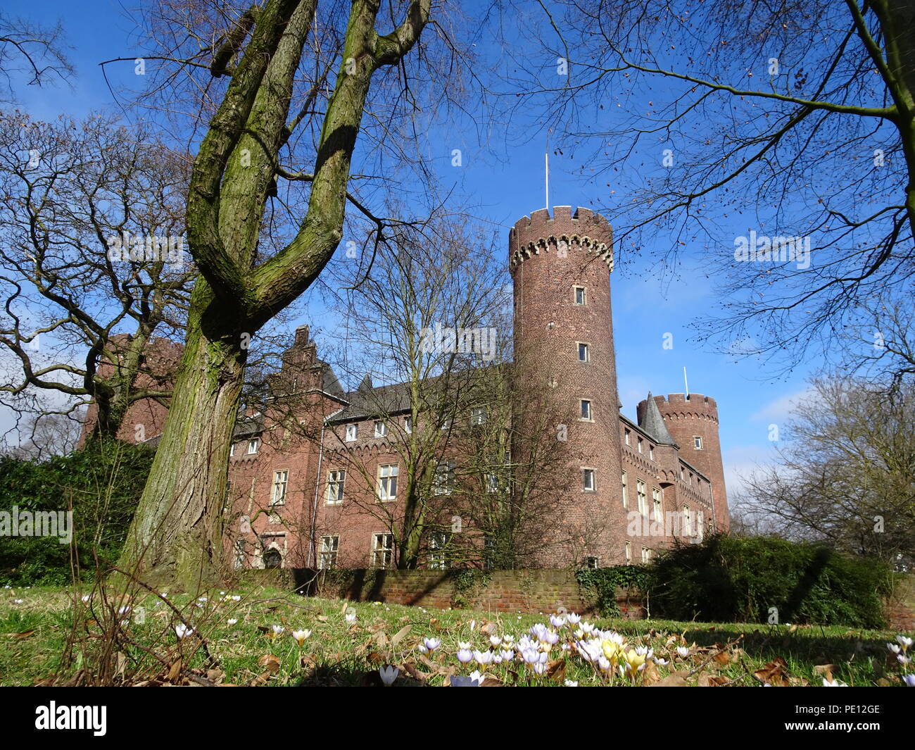 Medieval castle in Kempen on the Lower Rhine. Germany - Stock Image