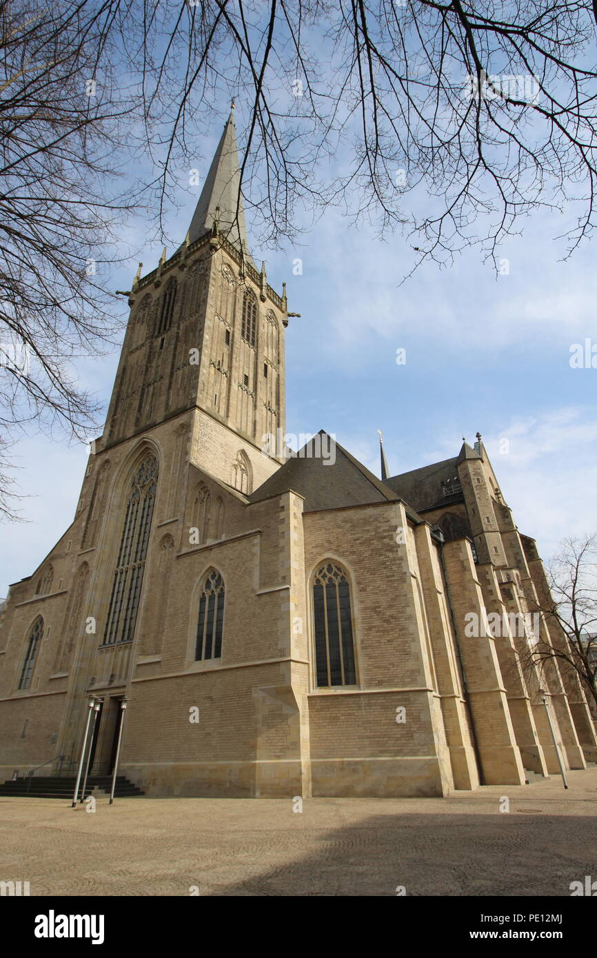 Willibrordi Church in Wesel on the Lower Rhine - Stock Image