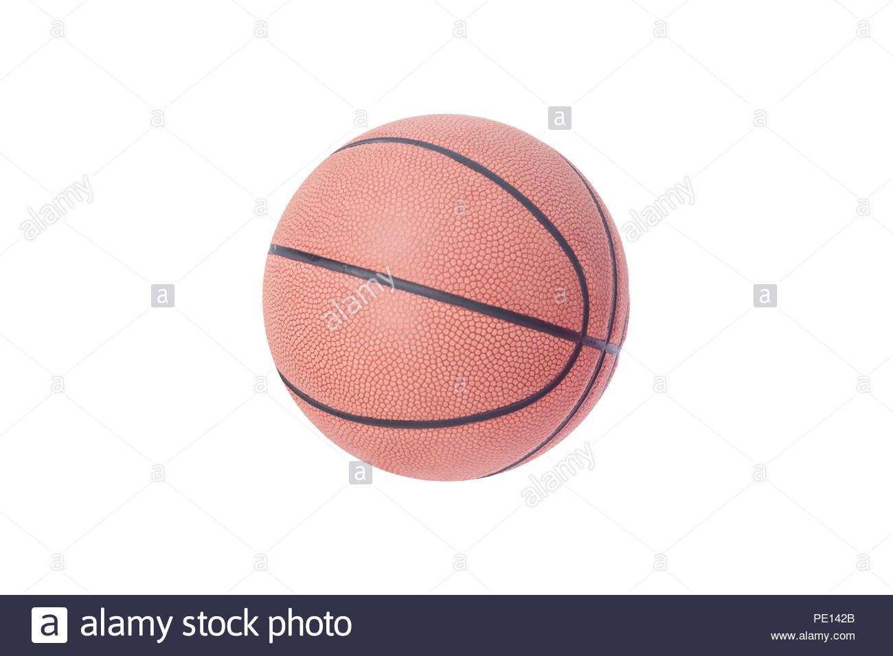 basketball isolated on white background - Stock Image