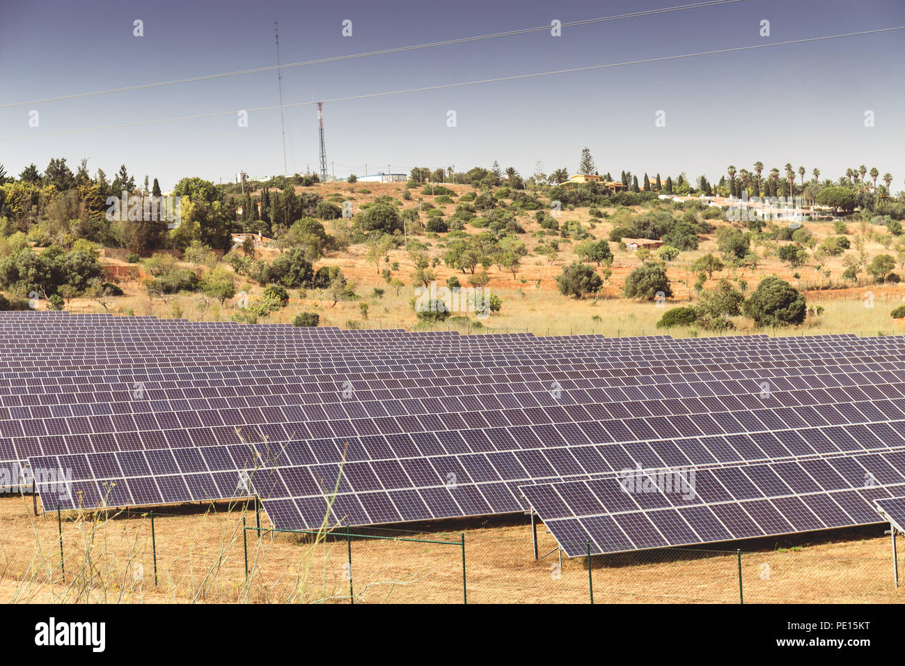 Hundreds Of Solar Panels Can Be Seen From The Via Do