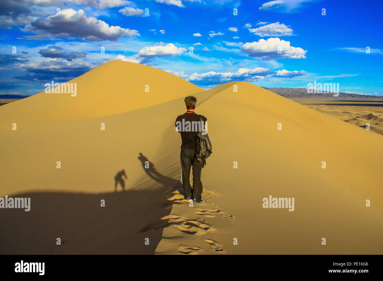 Gobi Desert, Mongolia - one of the largest deserts in the World, with hot Summers and freezing Winters, the Gobi Desert offers different landscapes - Stock Image