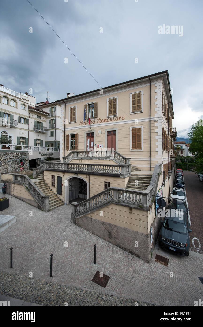Elementary School Scuola Elementare in Baveno near Lake Maggiore Italy. Stock Photo