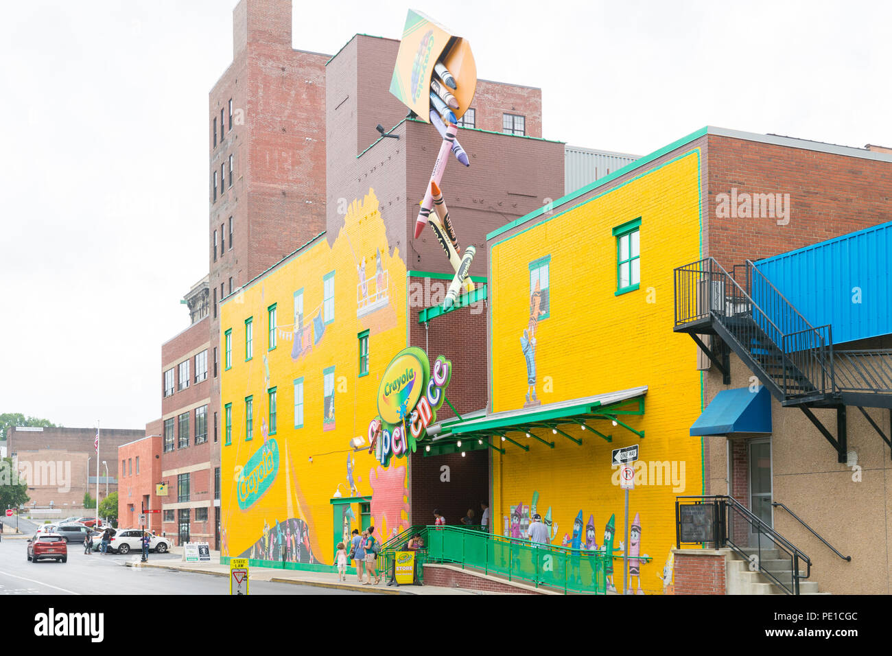 EASTON, PA - August 11, 2018: Crayola Experience in Easton ...