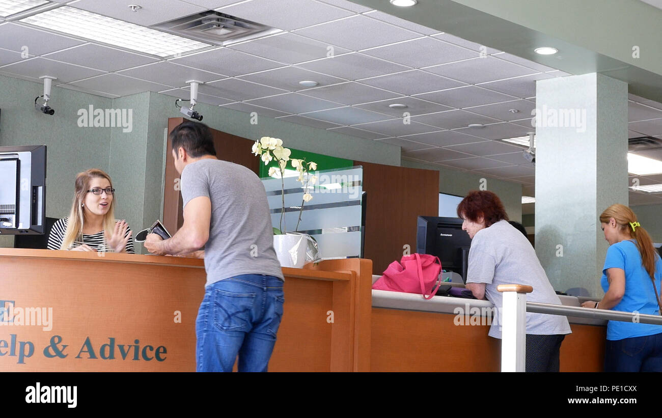 Bank Counter Room High Resolution Stock Photography And Images Alamy