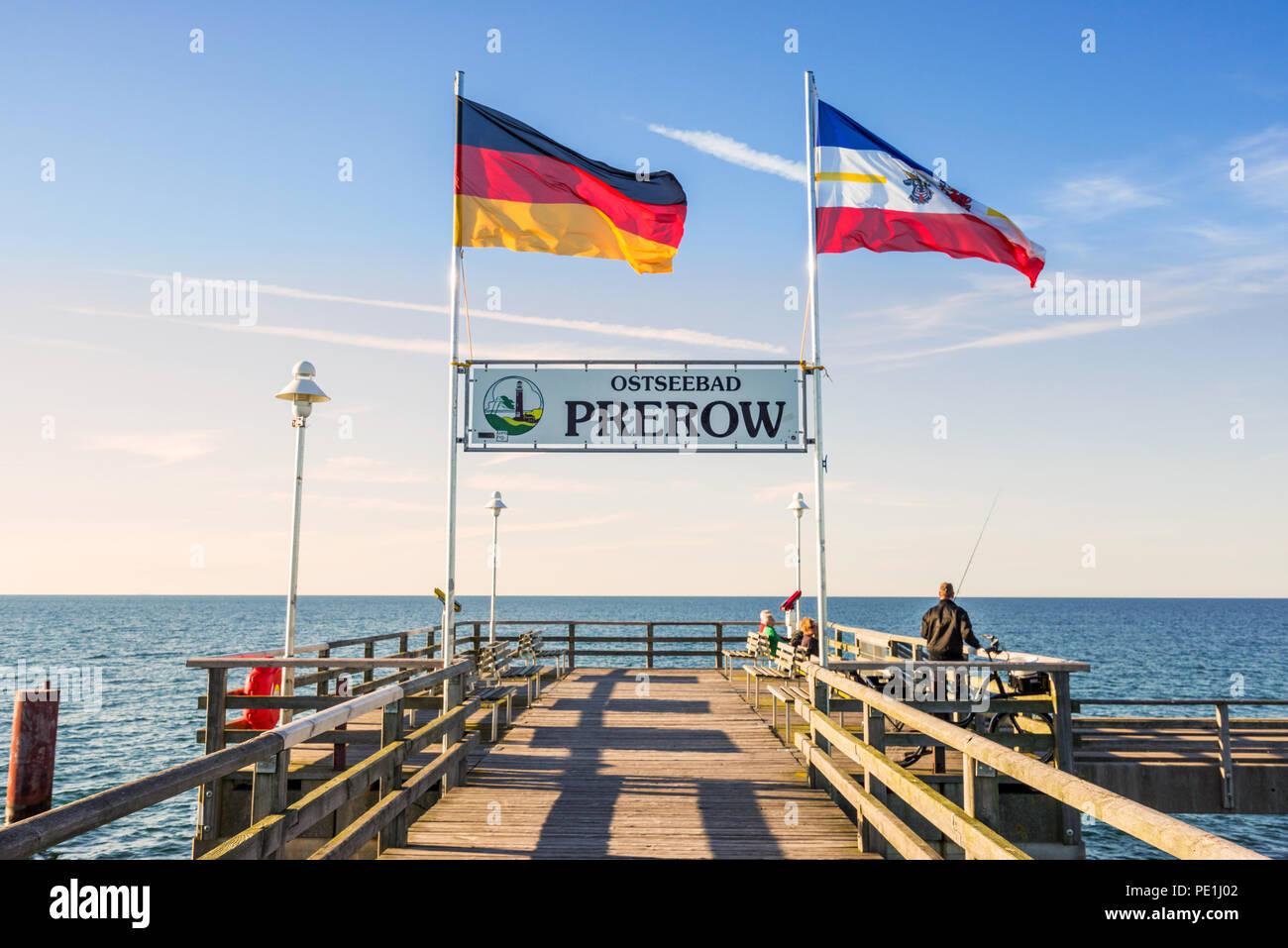 Seebruecke in Prerow - Stock Image