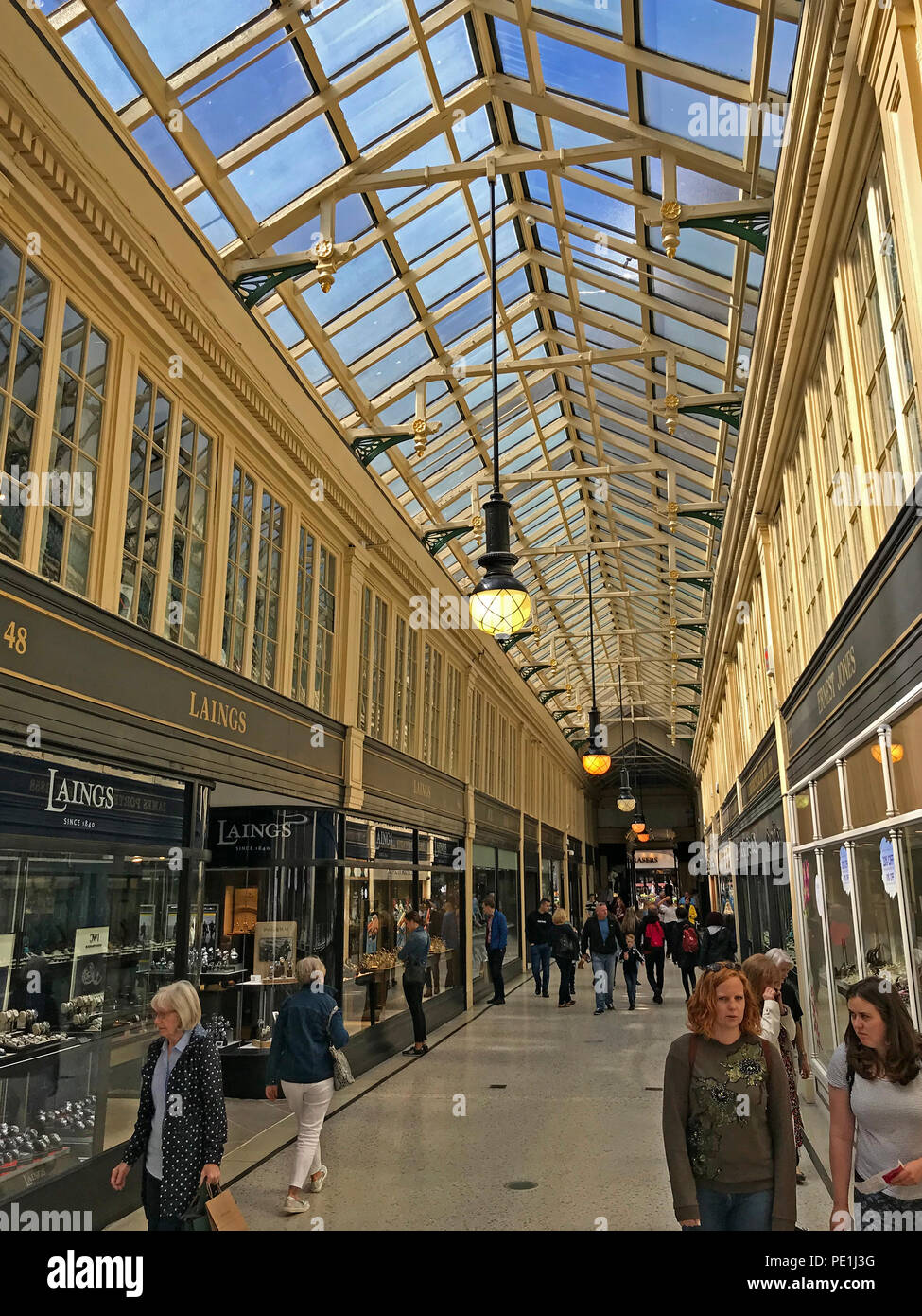 Argyll Arcade, Argyll Street, Glasgow, Strathcylde, Scotland, UK - Stock Image