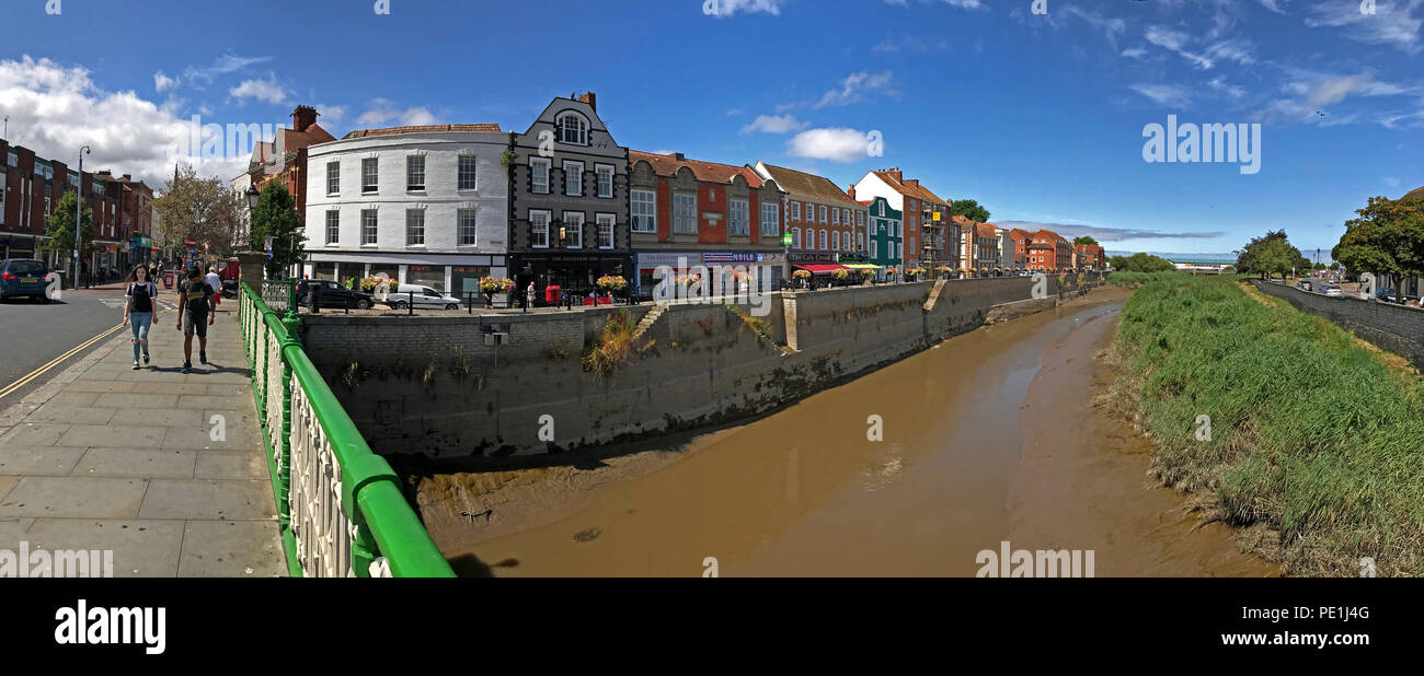 Bridgwater East Quay and River Parrett,Sedgemoor, North Somerset, South West England, UK - Stock Image