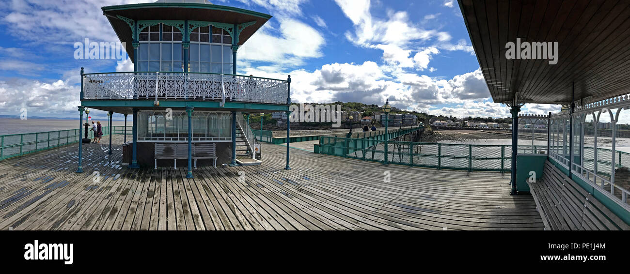 Clevedon pier, North Somerset, South West England, UK - Stock Image