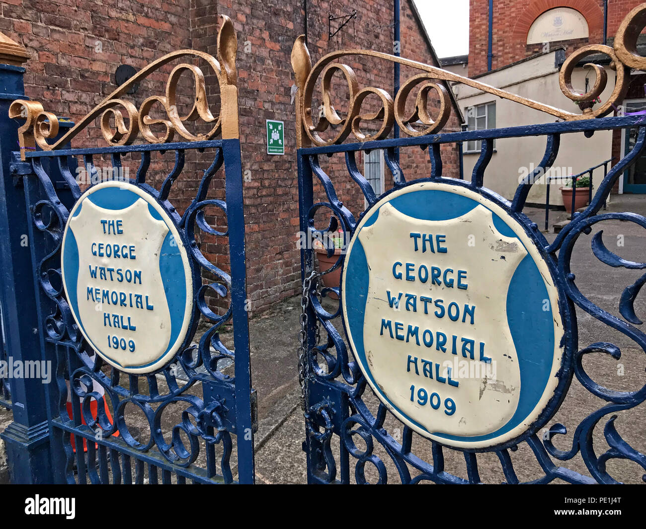 The George Watson memorial Hall 1909, 64 Barton St, Tewkesbury GL20, UK - Stock Image