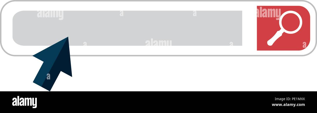 search bar browser interface - Stock Image
