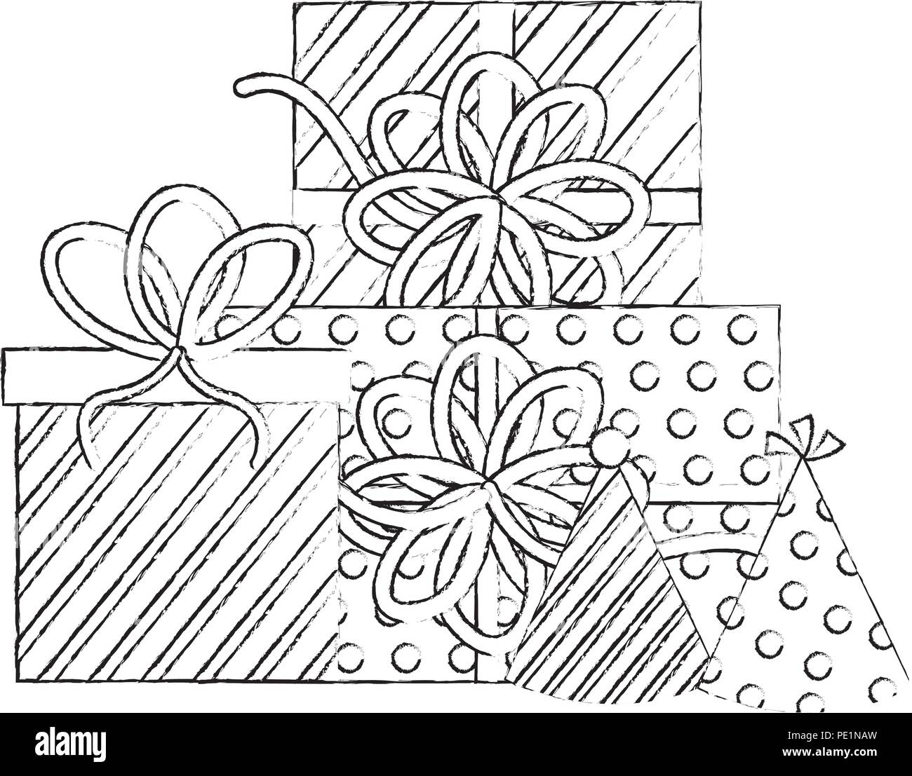 Birthday Gift Black And White Stock Photos Images Alamy