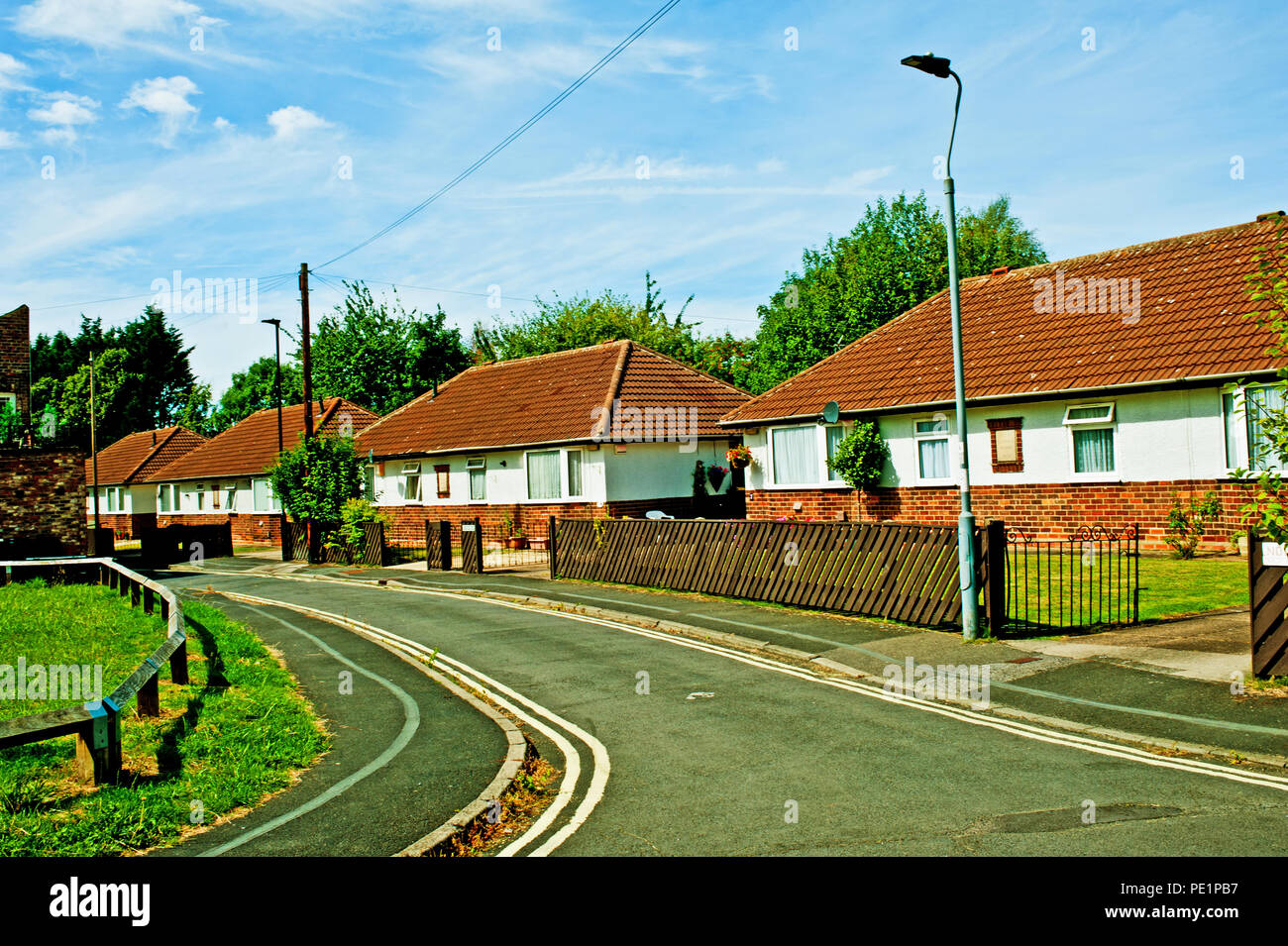 North Eastern Railway Cottages, Murrough Wilson Court, York, England - Stock Image