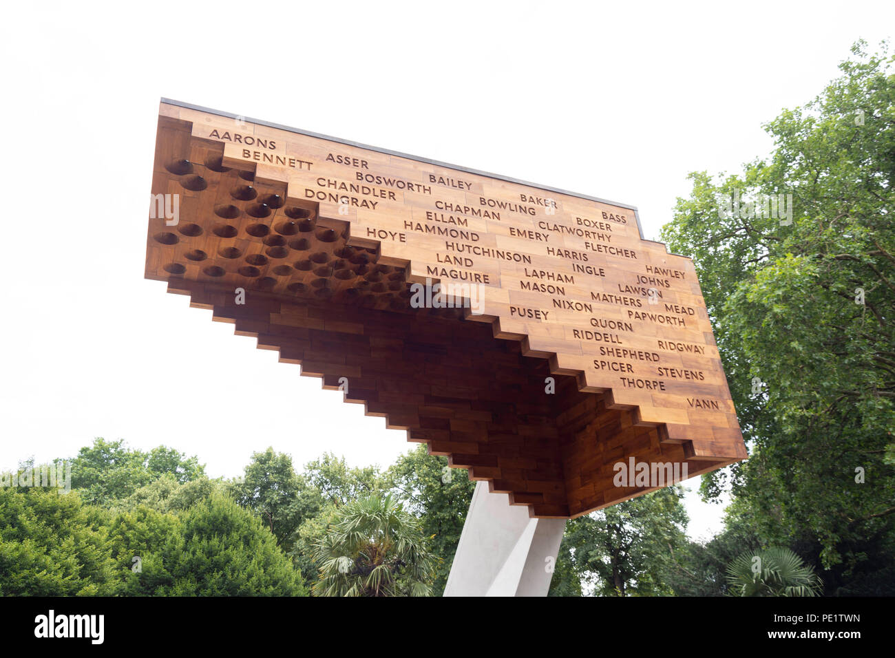 'Stairway to Heaven' sculpture in Bethnal Green Gardens, Bethnal Green, The London Borough of Tower Hamlets, Greater London, England, United Kingdom - Stock Image