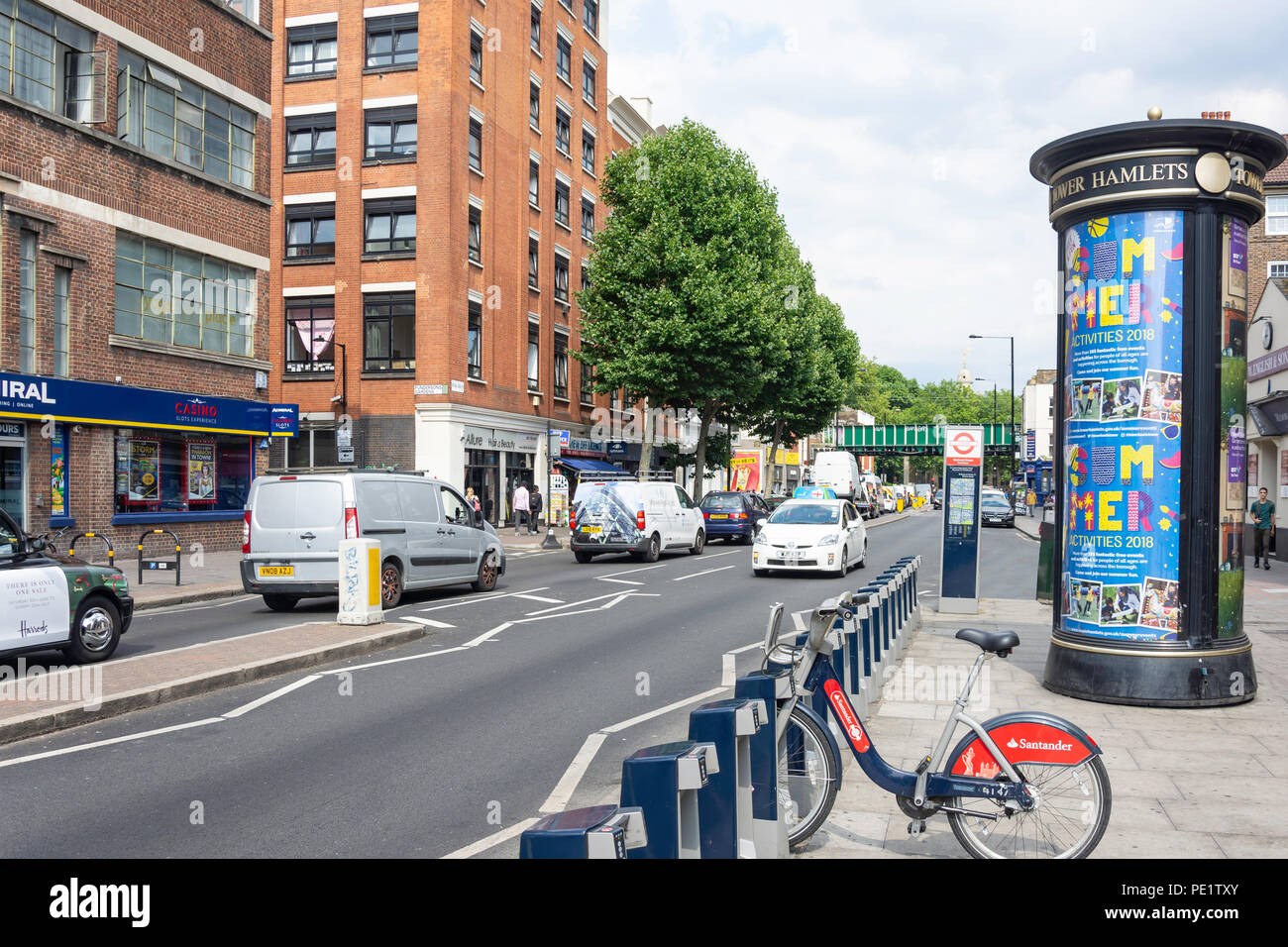 Bethnal Green Road, Bethnal Green, The London Borough of Tower Hamlets, Greater London, England, United Kingdom - Stock Image