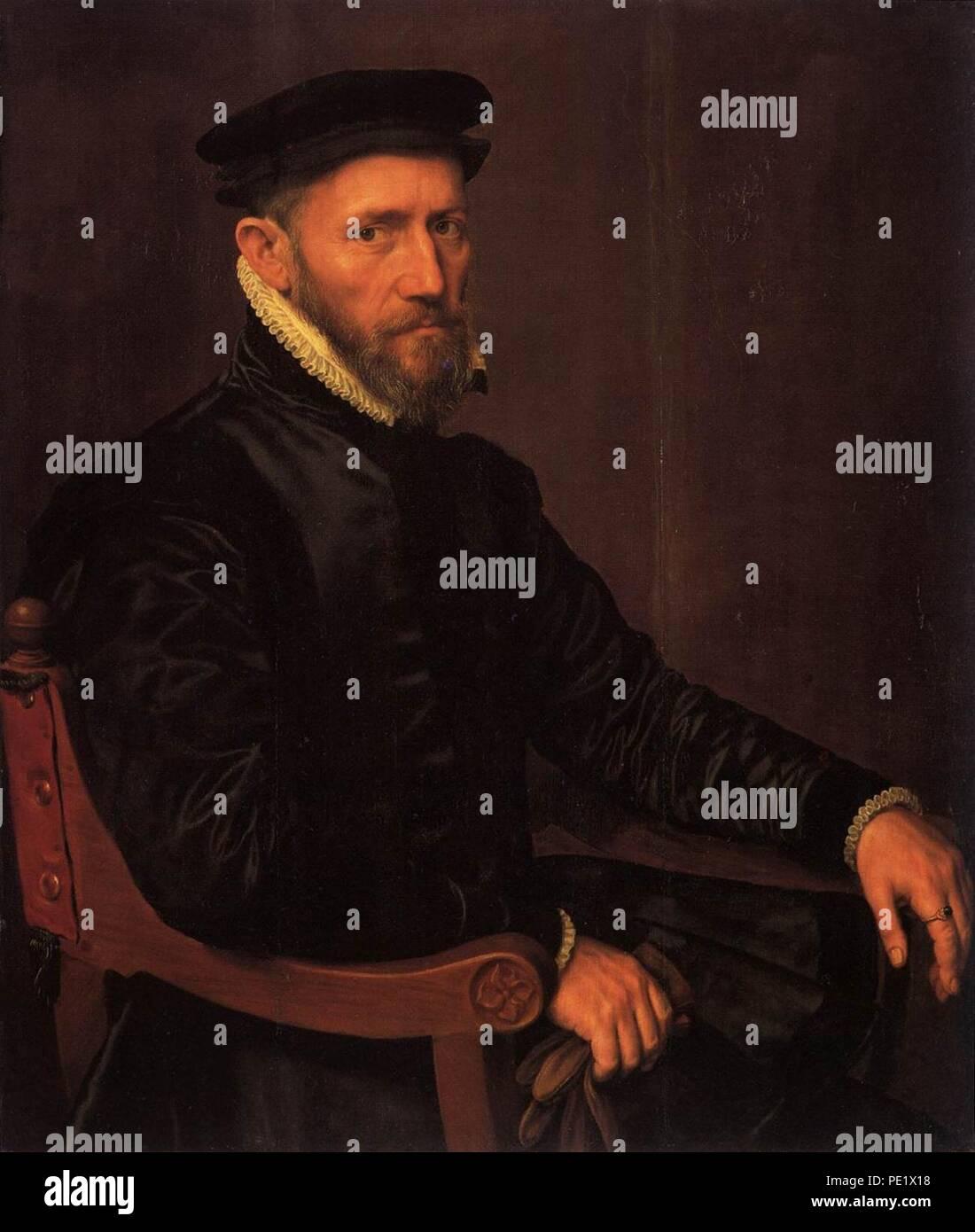 Anthonis Mor - Sir Thomas Gresham - - Stock Image