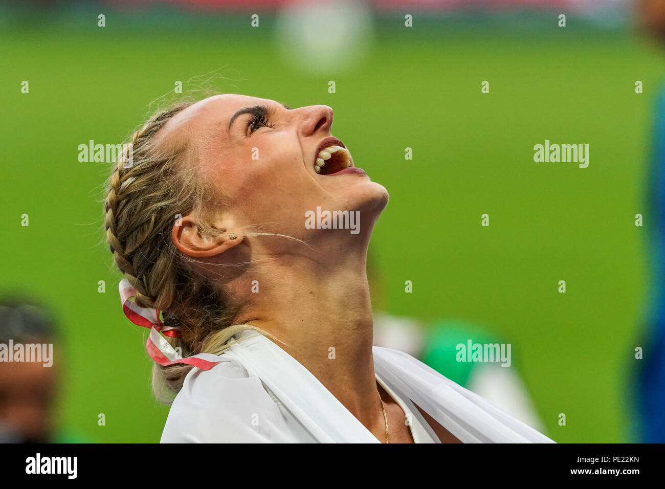 Berlin, Germany, August 11, 2018: Justyna Swiety-Ersetic winning the 400 meter final for women at the Olympic Stadium in Berlin at the European Athletics Championship. Ulrik Pedersen/CSM Credit: Cal Sport Media/Alamy Live News Credit: Cal Sport Media/Alamy Live News - Stock Image