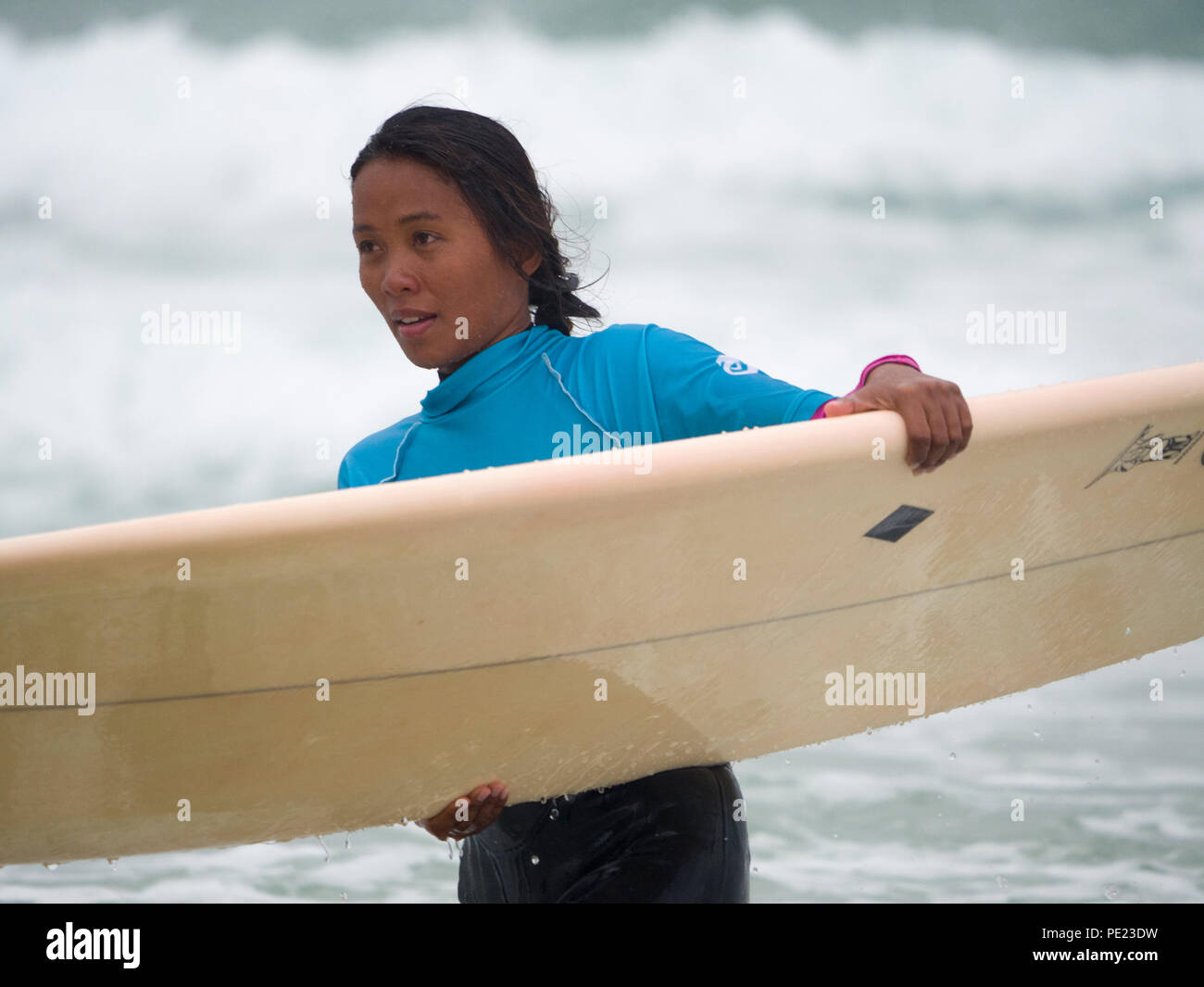 Boardmasters surf contest, August,11th,2018  Robert Taylor/Alamy Live News.  Newquay, Cornwall, UK. - Stock Image
