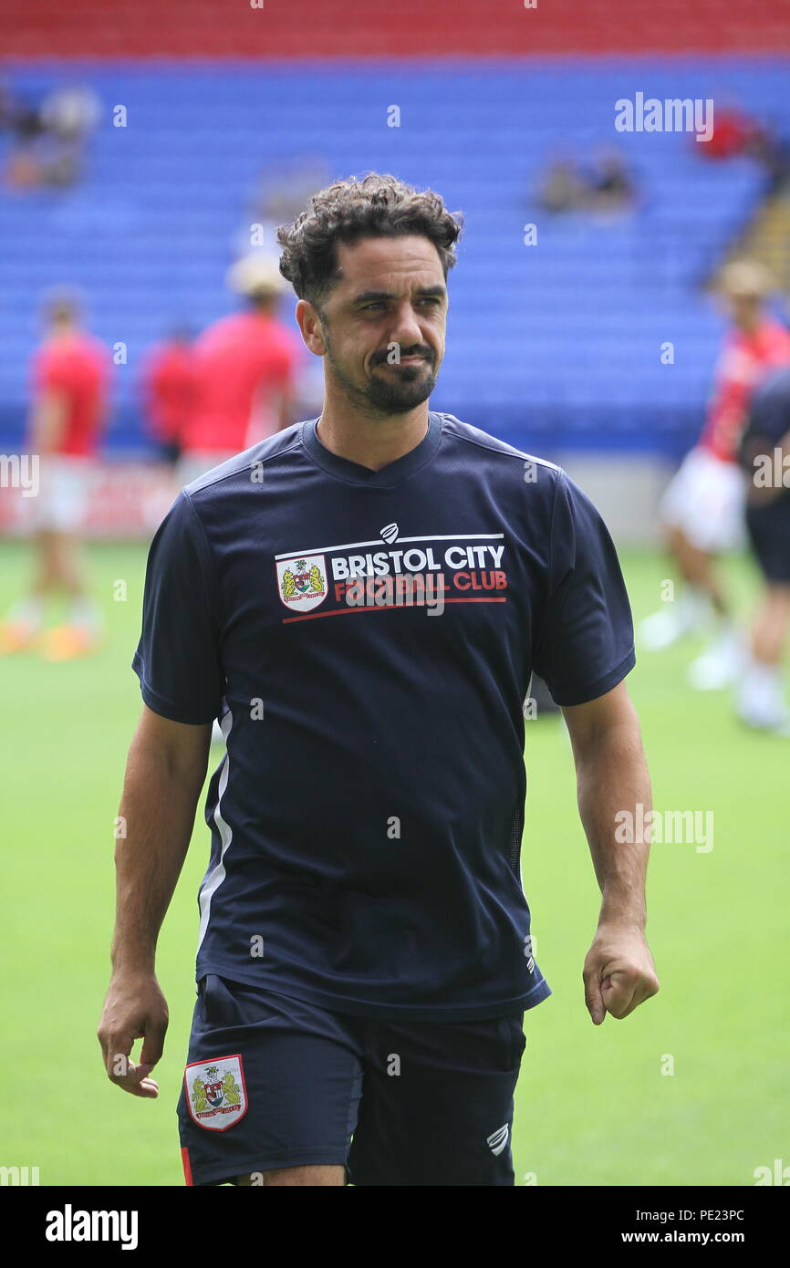 Bolton, Lancashire, UK11th August, 2018. Former Bristol City player Scott Murray (now kitman) before the Championship match between Bolton Wanderers and Bristol City. Credit: Simon Newbury/Alamy Live News - Stock Image