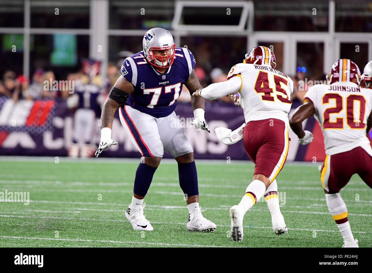 sports shoes 2c2e9 411e5 August 9, 2018: New England Patriots offensive tackle Trent ...