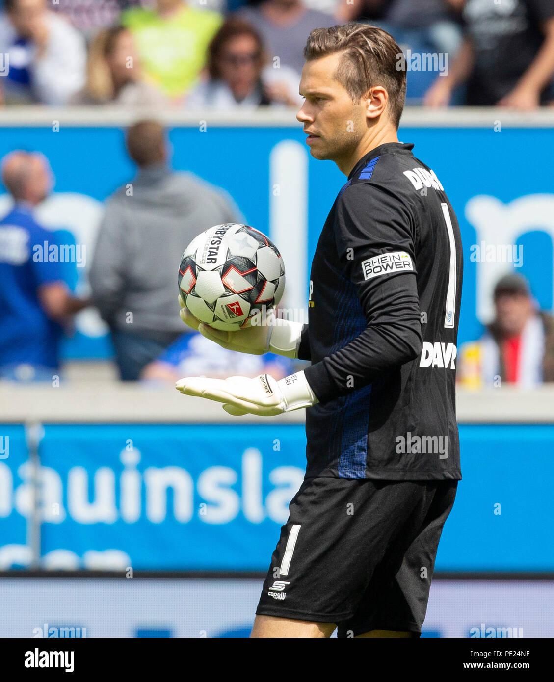 Duisburg, Germany August 11 2018, 2nd league, MSV Duisburg vs VfL Bochum:  Goalkeeper Daniel Davari (MSV) gestures.                 Credit: Juergen Schwarz/Alamy Live News - Stock Image