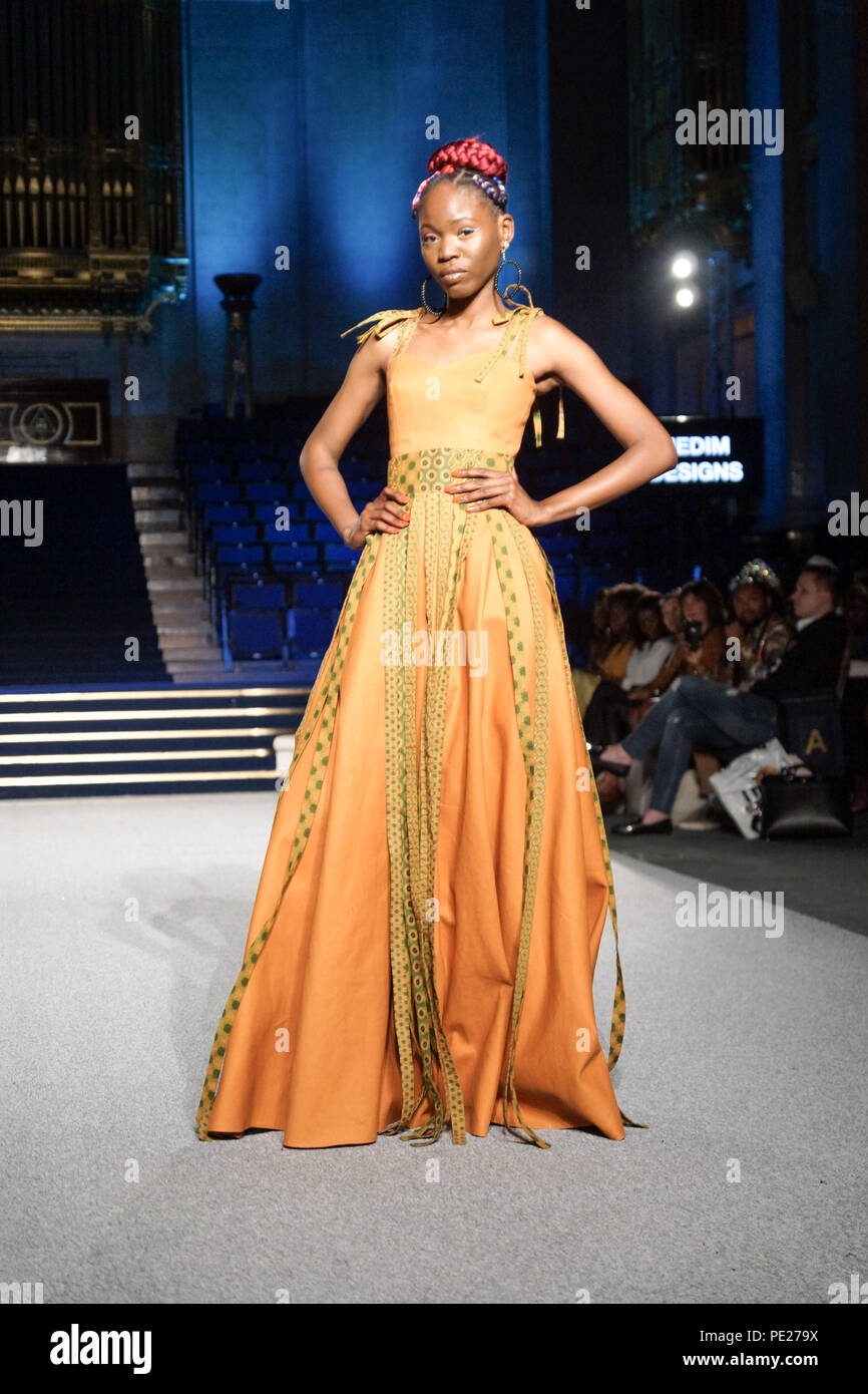 London Uk 11th August 2018 African Fashion Week London Day 1 Designers And Models From All