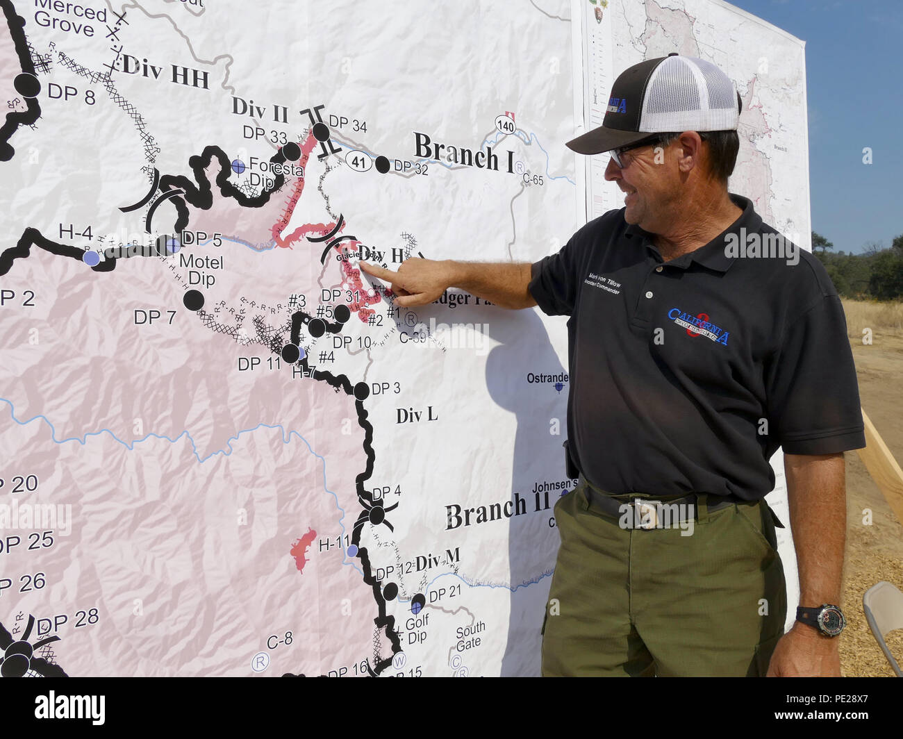 Ferguson Fire California Map.Yosemite Usa 10th Aug 2018 Fire Chief And Chief Of Operations