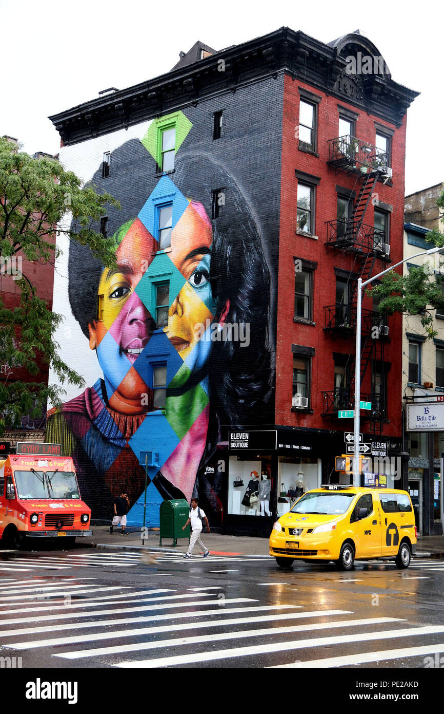 Foto Murales New York.New York City New York Usa 12th Aug 2018 A Mural Of
