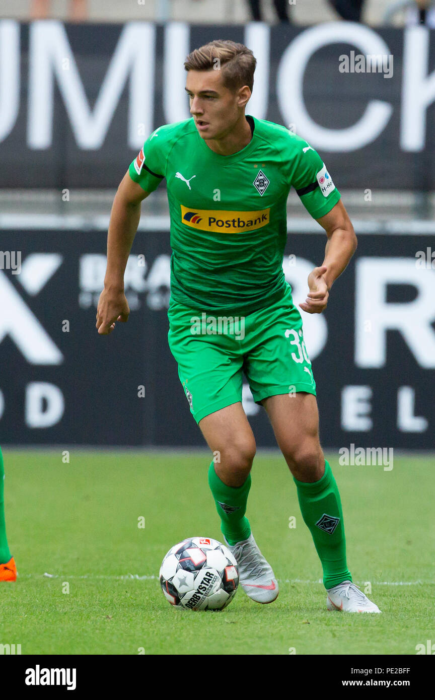 Moenchengladbach, Germany August 12 2018, friendly match, Borussia Moenchengladbach vs FC Wegberg-Beeck: Florian Neuhaus (BMG) in action.                Credit: Juergen Schwarz/Alamy Live News - Stock Image