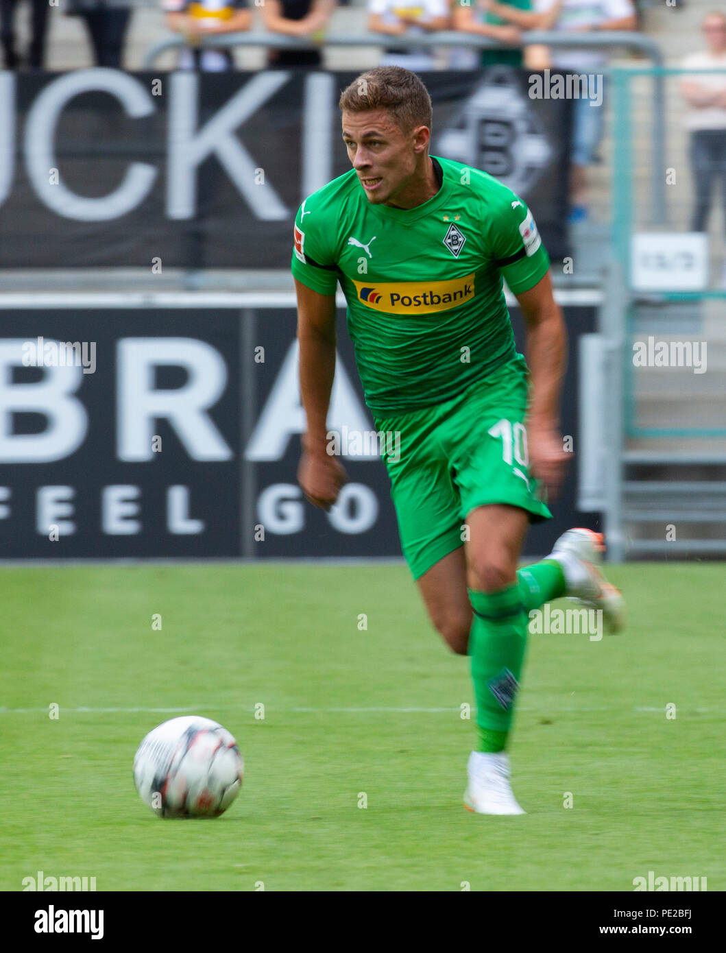 Moenchengladbach, Germany August 12 2018, friendly match, Borussia Moenchengladbach vs FC Wegberg-Beeck: Thorgan Hazard (BMG) in action.                Credit: Juergen Schwarz/Alamy Live News - Stock Image