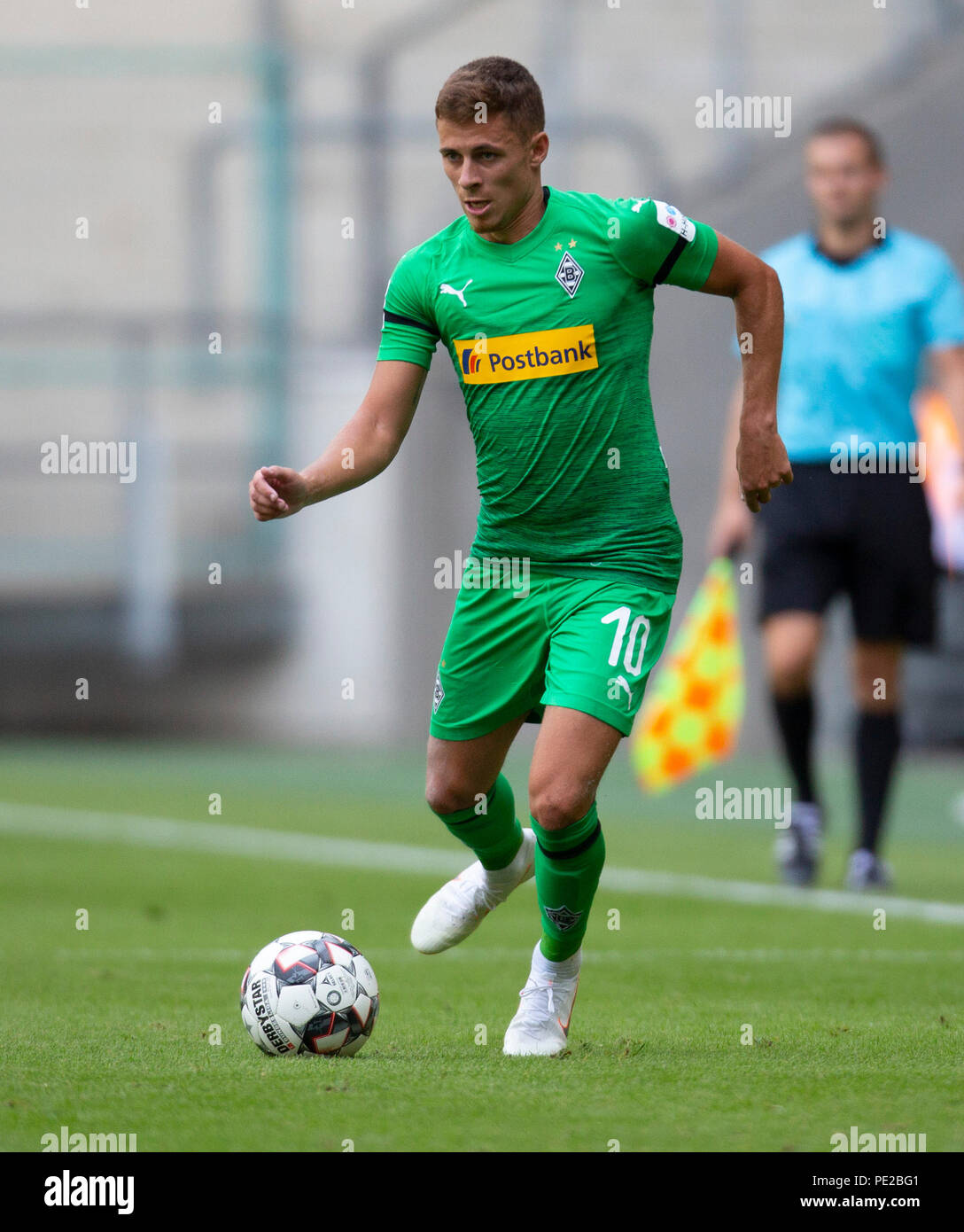 Moenchengladbach, Germany August 12 2018, friendly match, Borussia Moenchengladbach vs FC Wegberg-Beeck: Oscar Wendt (BMG)  in action.               Credit: Juergen Schwarz/Alamy Live News - Stock Image
