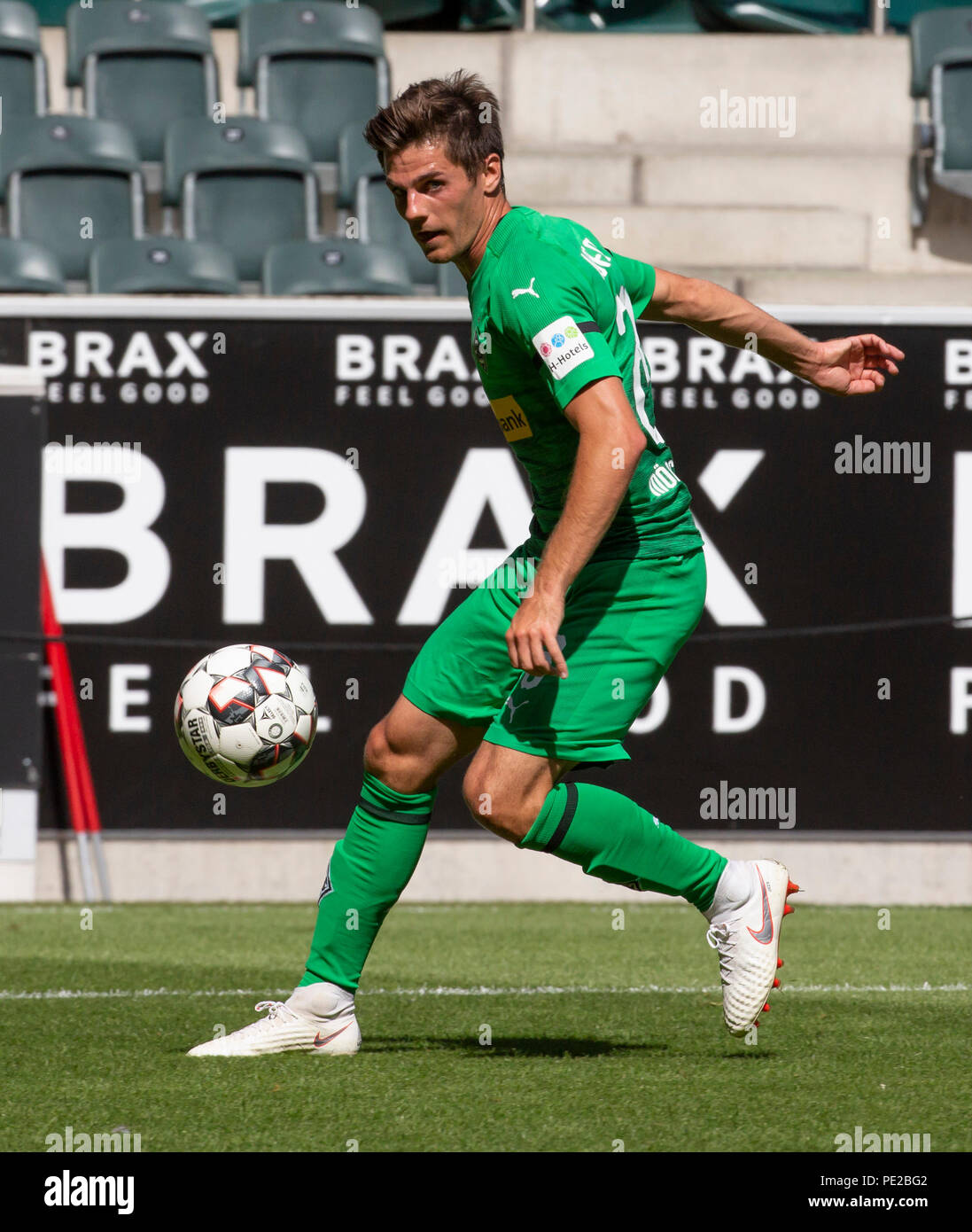 Moenchengladbach, Germany August 12 2018, friendly match, Borussia Moenchengladbach vs FC Wegberg-Beeck: Jonas Hofmann (BMG) in action.                Credit: Juergen Schwarz/Alamy Live News - Stock Image