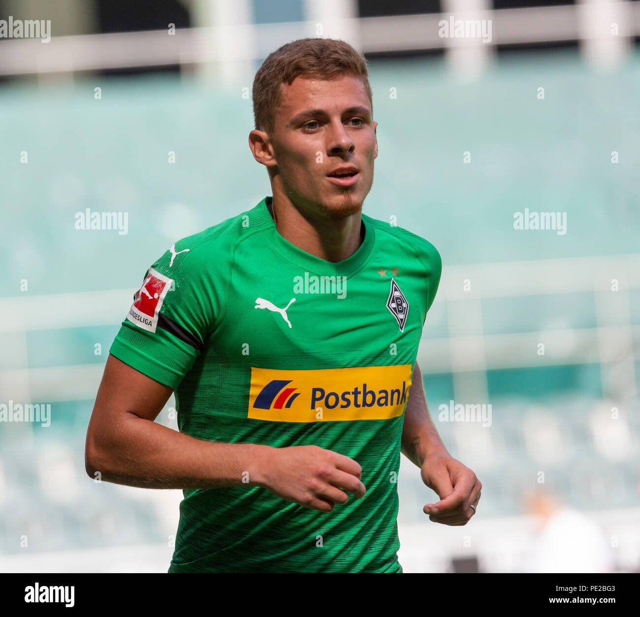 Moenchengladbach, Germany August 12 2018, friendly match, Borussia Moenchengladbach vs FC Wegberg-Beeck: Thorgan Hazard (BMG) schaut.                Credit: Juergen Schwarz/Alamy Live News - Stock Image