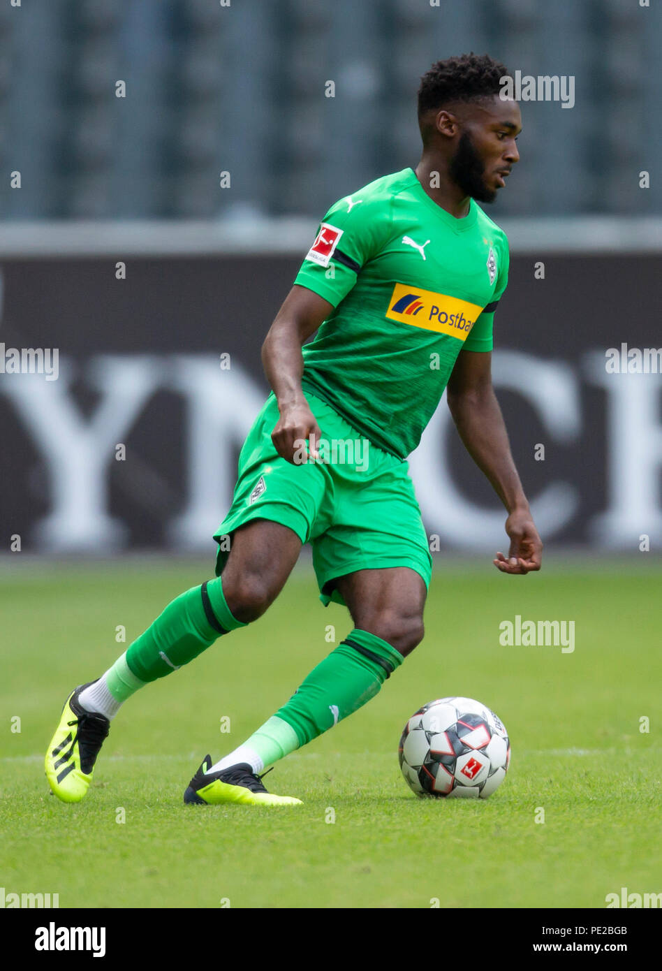 Moenchengladbach, Germany August 12 2018, friendly match, Borussia Moenchengladbach vs FC Wegberg-Beeck: Mandela Egbo (BMG) in action.                Credit: Juergen Schwarz/Alamy Live News - Stock Image