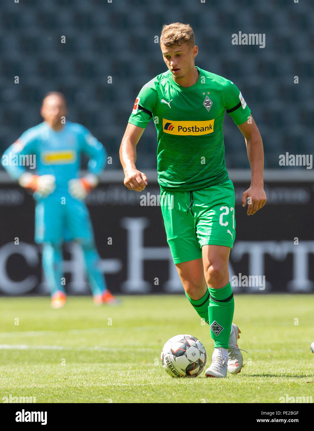 Moenchengladbach, Germany August 12 2018, friendly match, Borussia Moenchengladbach vs FC Wegberg-Beeck: Mickael Cuisance (BMG) in action.                Credit: Juergen Schwarz/Alamy Live News - Stock Image