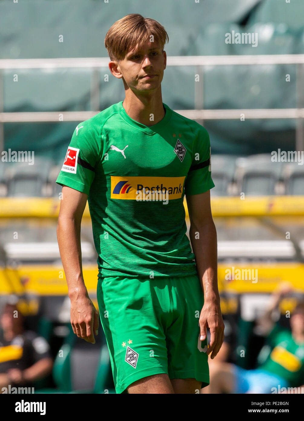 Moenchengladbach, Germany August 12 2018, friendly match, Borussia Moenchengladbach vs FC Wegberg-Beeck: Torben Muesel (BMG) schaut.                Credit: Juergen Schwarz/Alamy Live News - Stock Image