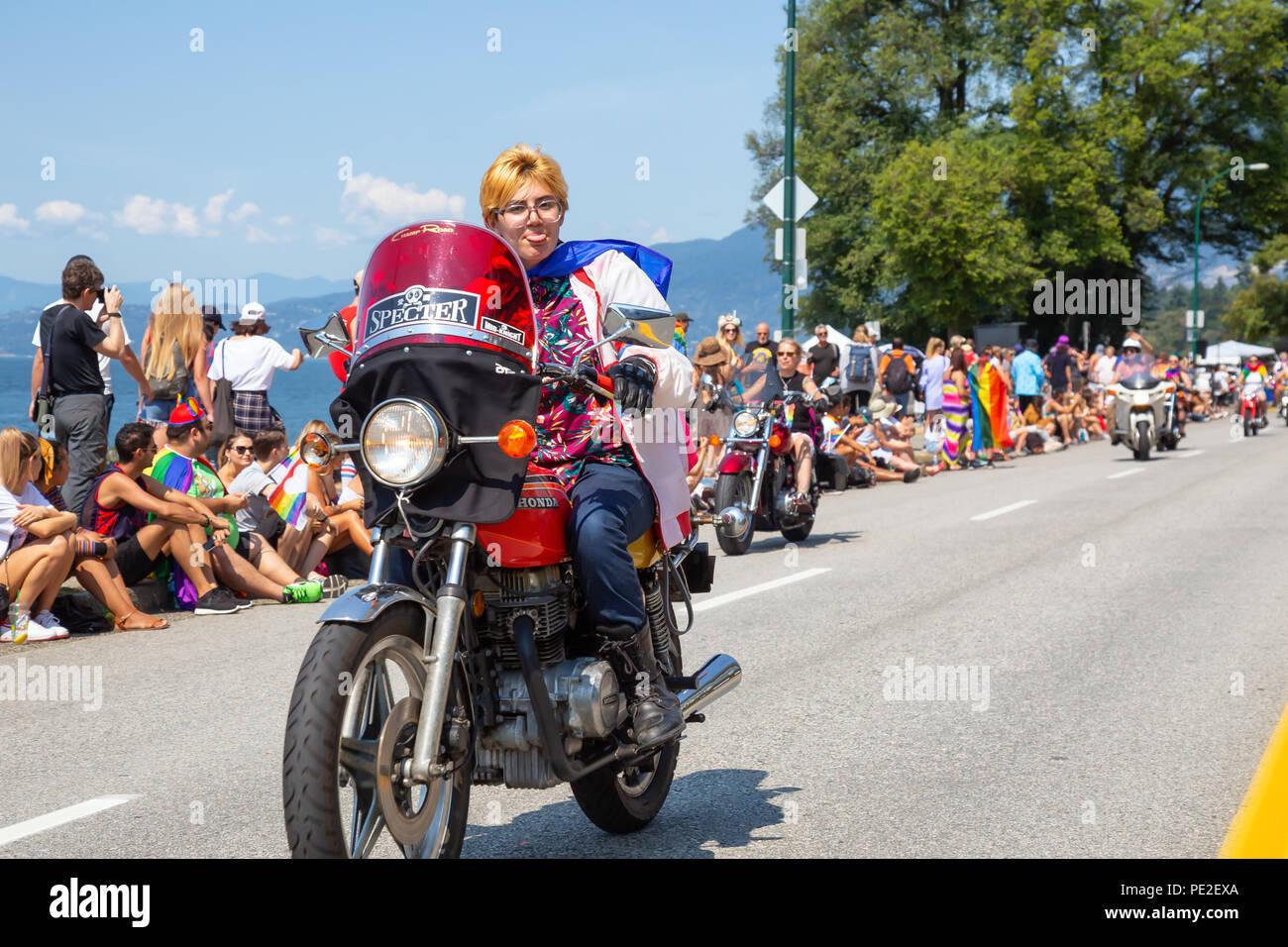 Classic homosexual cop and biker