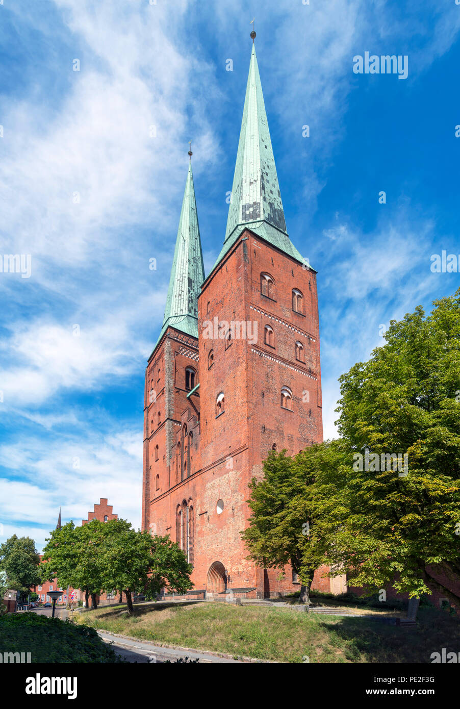 Lubeck Cathedral (Lübecker Dom), Lubeck, Schleswig-Holstein, Germany - Stock Image