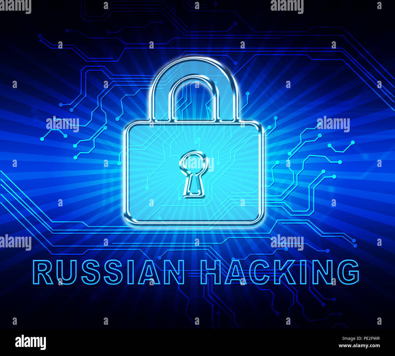 Cybersecurity Hacker Online Cyber Attacks 2d Illustration Shows Digital Spying And Breach Security For Internet Protection Against Web Hacking Stock Photo