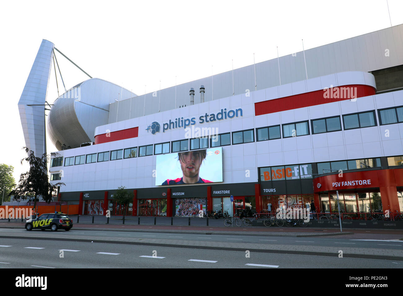 EINDHOVEN, NETHERLANDS - JUNE 5, 2018: Philips Stadion is a football stadium in Eindhoven, Netherlands and it is the home of PSV Eindhoven football te - Stock Image