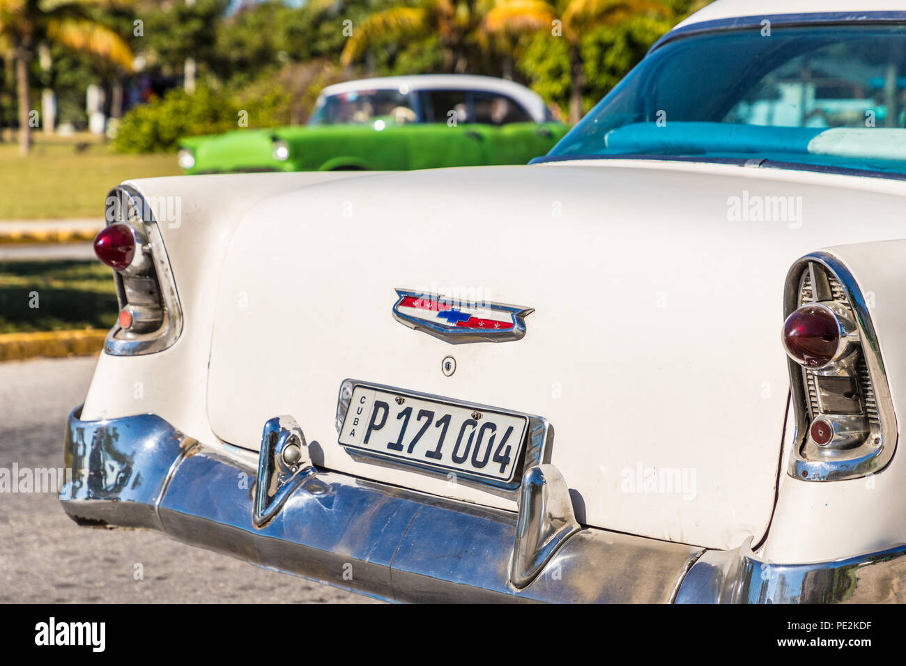 A typical view in Varadero in Cuba - Stock Image