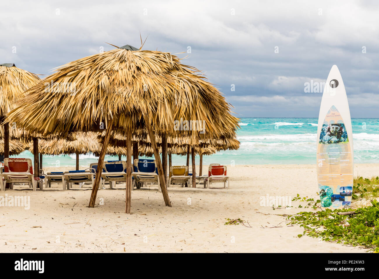 A typical view in Varadero in Cuba Stock Photo