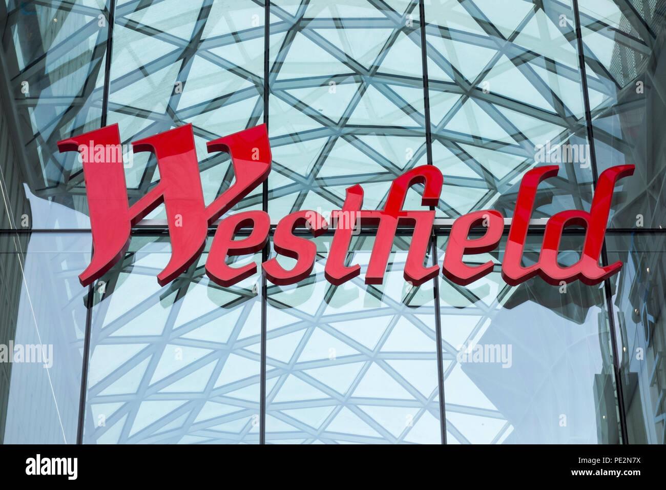 Westfield Shopping Centre, Ariel Way, White City, London, W12, UK - Stock Image