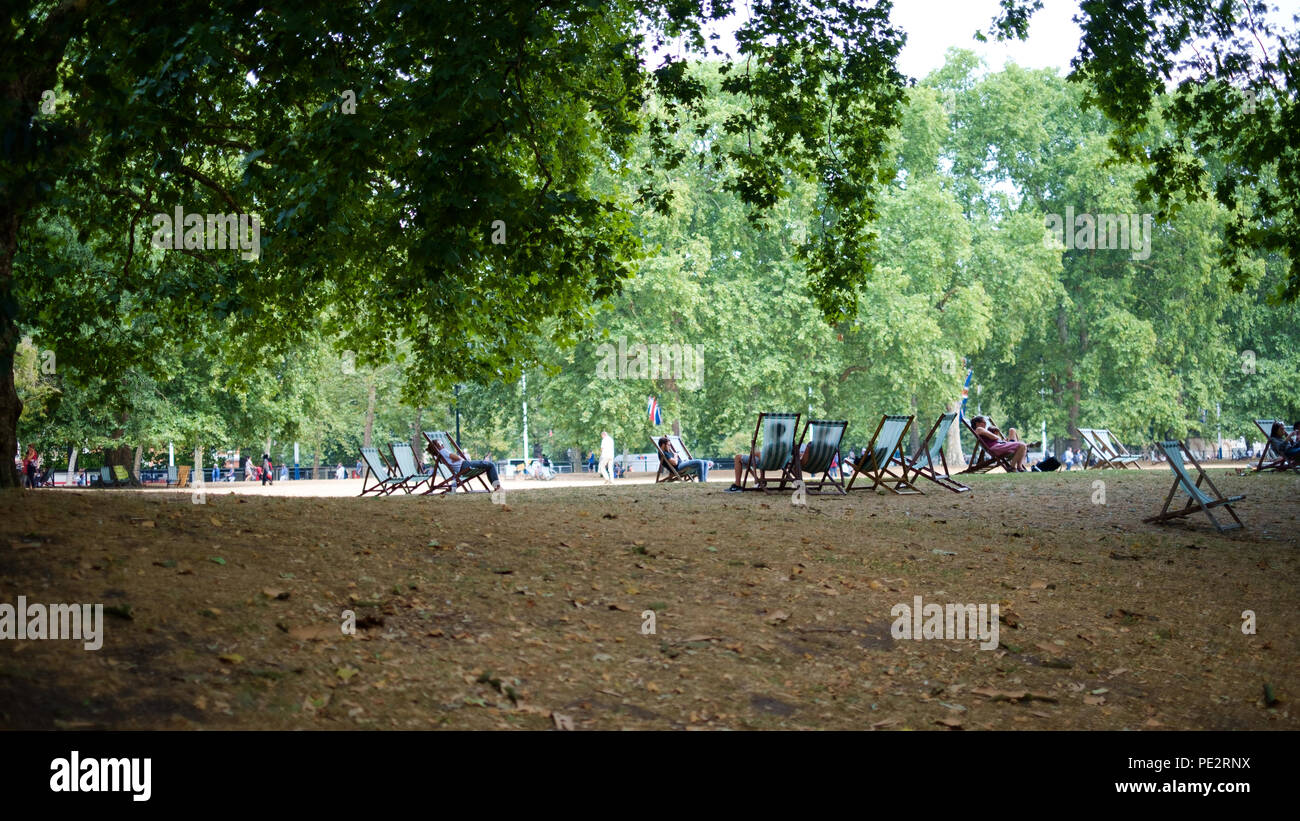 St James's Park, London in the Summer Stock Photo