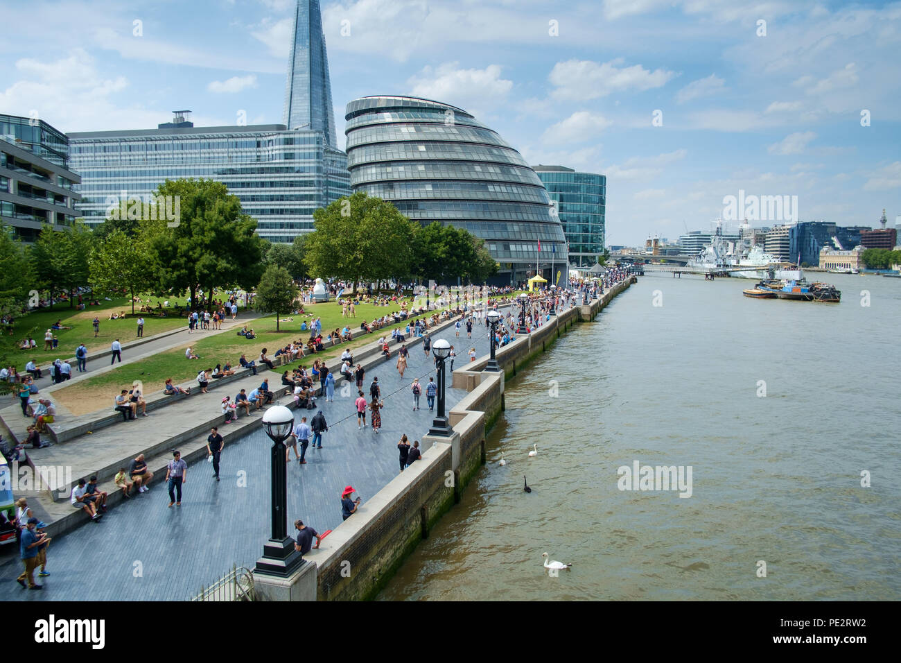London Cityscape with the River Thames on Summer day - Stock Image
