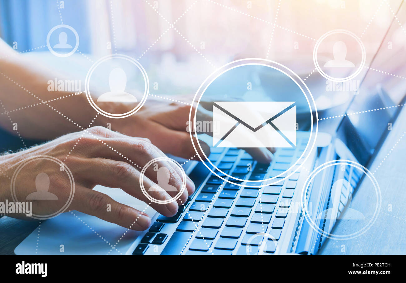 email marketing concept - Stock Image