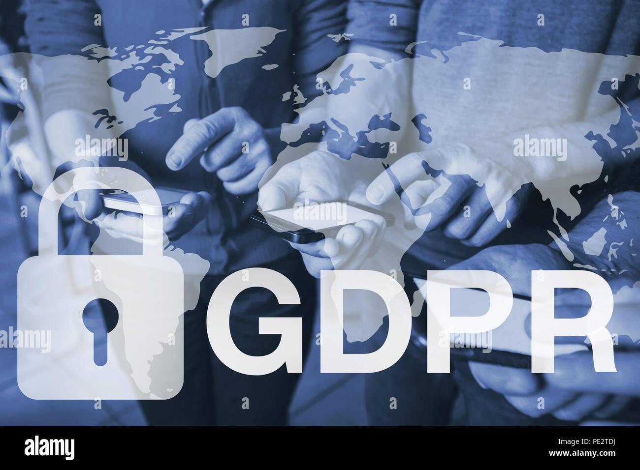 GDPR concept, general data protection regulation - Stock Image