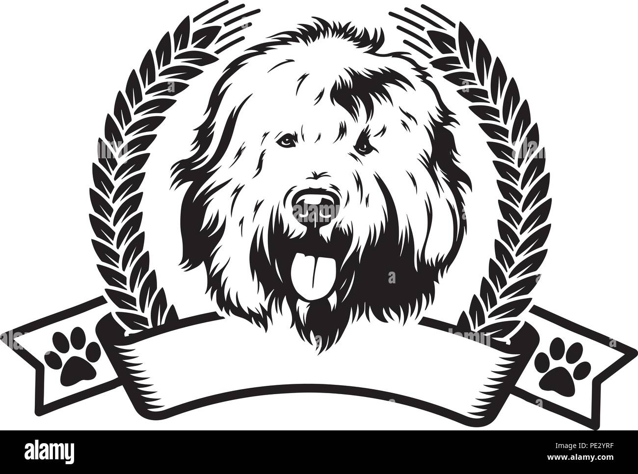 Old English Sheepdog Puppy Cut Out Stock Images & Pictures