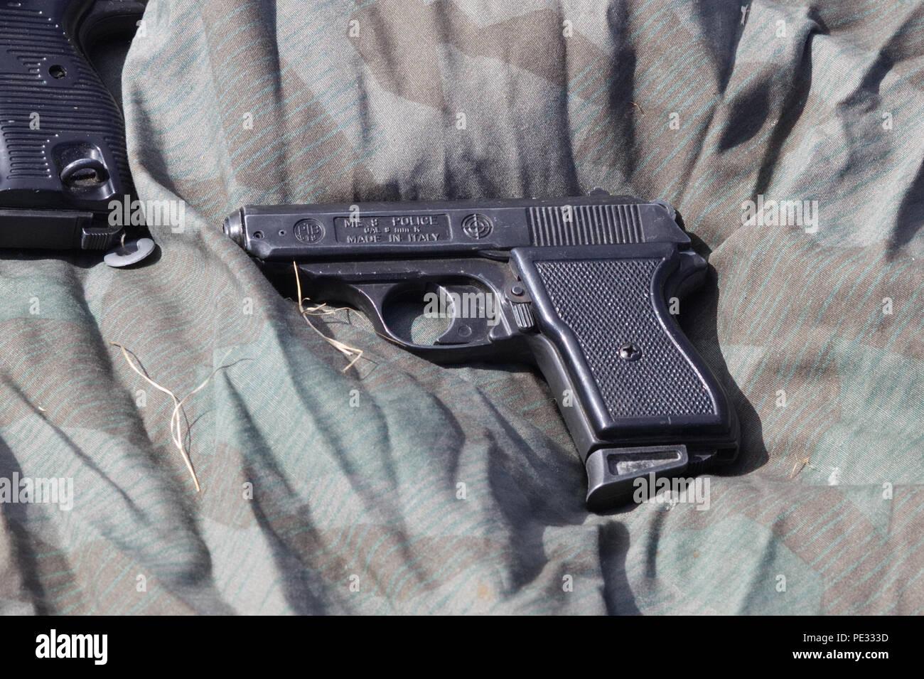 ME 8 Police issue 8mm K pistol PTB518 - Stock Image