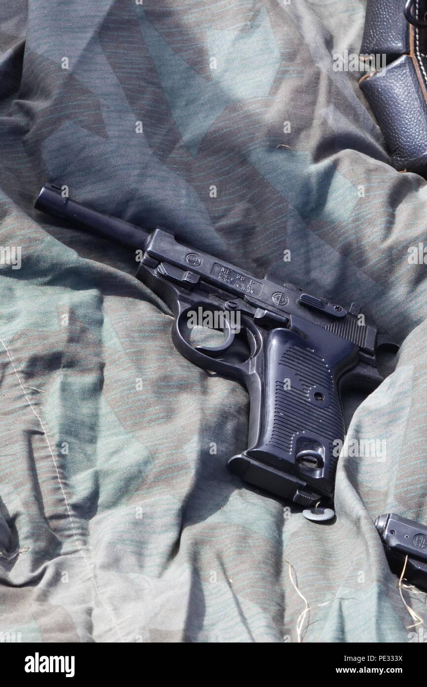 ME 38 Pcal 3mm K service  pistol - Stock Image