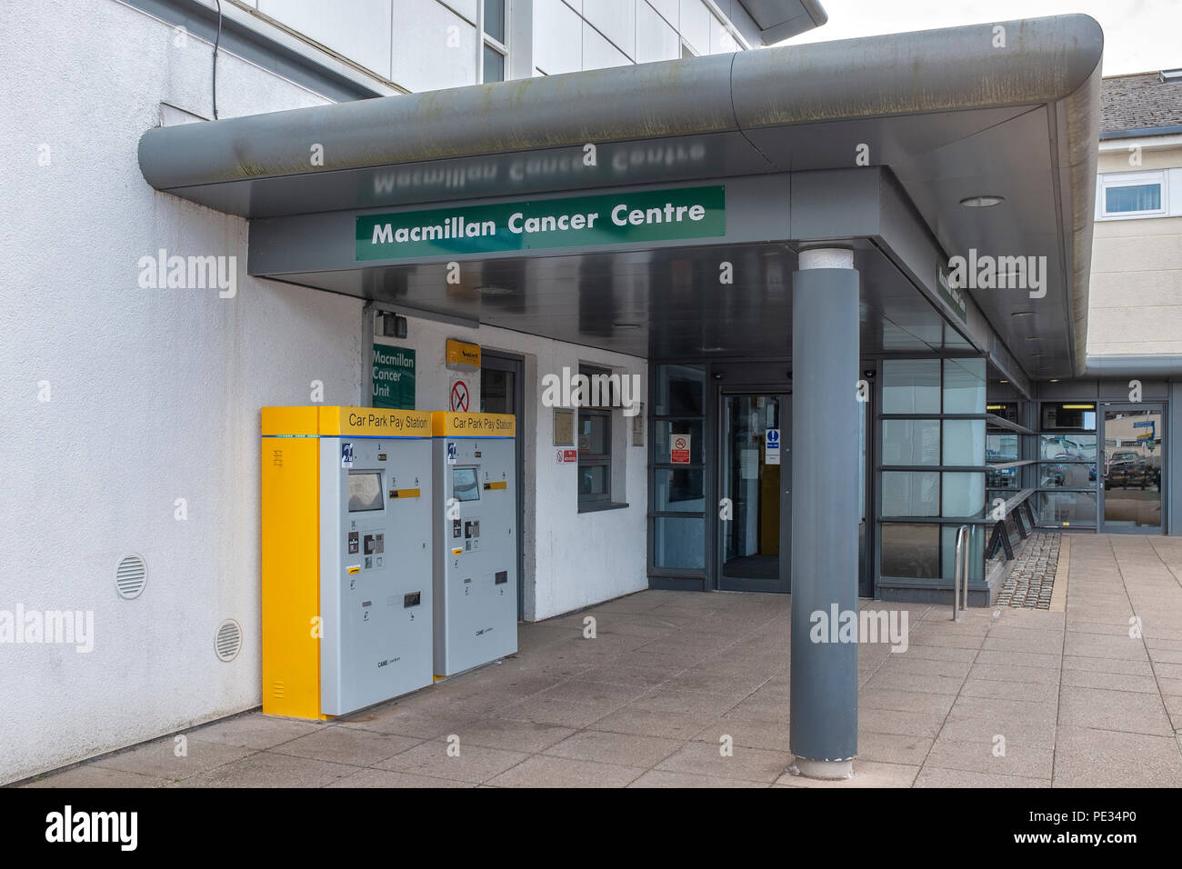 Macmillan Cancer Centre at Leighton Hospital in Crewe Cheshire UK - Stock Image